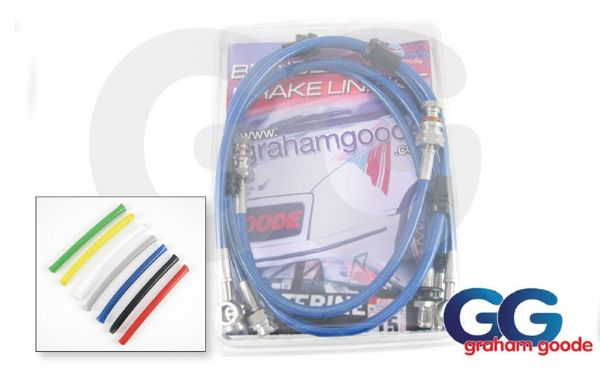 Brake Hose Subaru Impreza Classic 94 to 96 Stainless Steel 4 Line Brake Hoses GGR Kit GGS360